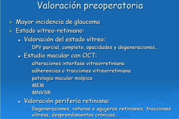La cirugía de cataratas en casos complejos: pacientes con elevada miopía